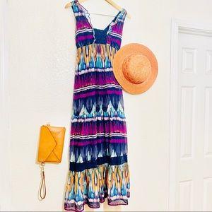 Boho Tribal Maxi Dress